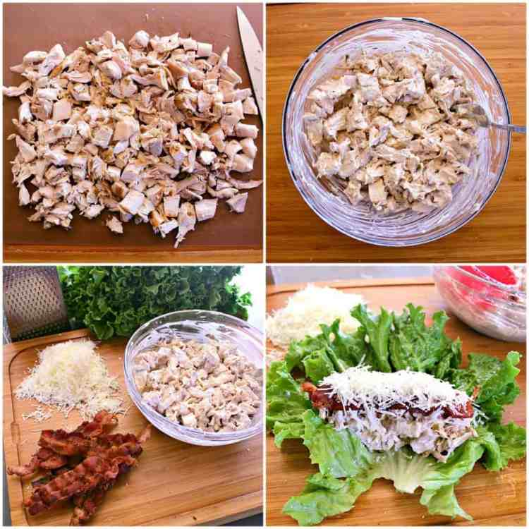 You'll never use a tortilla again after eating these low carb and gluten free, healthy and delicious, Chicken Caesar Salad Lettuce Wraps!