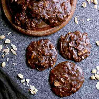 Low Carb No Bake Peanut Butter Chocolate Freezer Cookies.