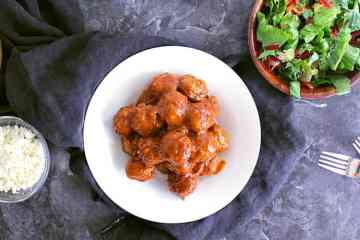 These Mini Low Carb Meatballs in BBQ Sauce are boldly flavoured, great for an easy weeknight meal or an excellent choice to add to appie night!