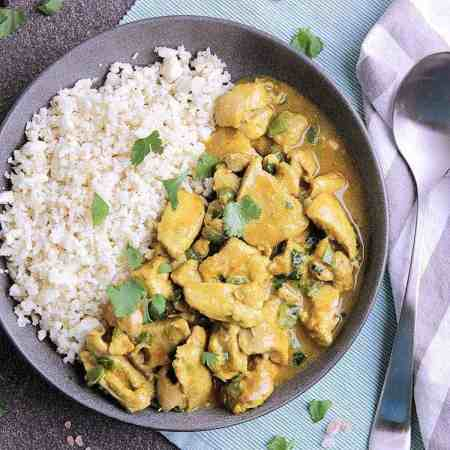This Easy Slow Cooker Thai Coconut Curry Chicken will blow your mind with it's incredible flavour and simplicity. Plus it's low carb!