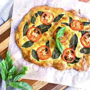 This Tomato Basil Low Carb Flatbread is an excellent addition to Appie night or give it a try for an epic grilled panini!