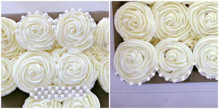 These beautiful Wedding Dress Cupcakes are perfect for an egagement party, bridal shower or bachlotette party.. not every bride needs a naughty cake!