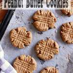 Pin this low carb peanut butter cookies recipe for later!