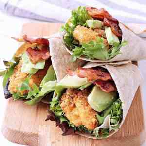 The perfect lunch-to-go, this delicious Low Carb Chicken Wrap with Bacon and Avocado takes minutes to create for easy night time prep.