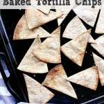 Pin this 7 Minute Low Carb Baked Tortilla Chips recipe for later!
