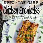 Pin this Keto Chicken Enchiladas recipe for later!