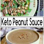 Pin this Keto Peanut Sauce recipe for later!