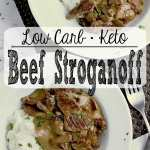 Pin this Keto Beef Stroganoff recipe for later!