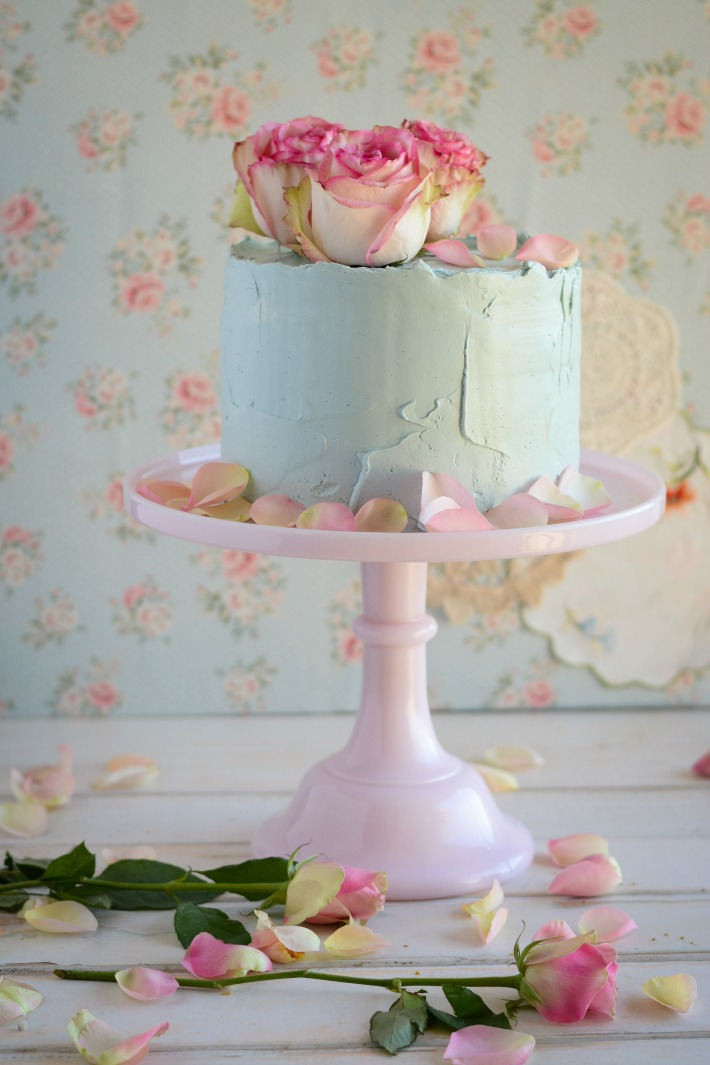 RECIPE // Lemon coconut cake with Raspberry Swiss Meringue Buttercream (and a nod to Violet)