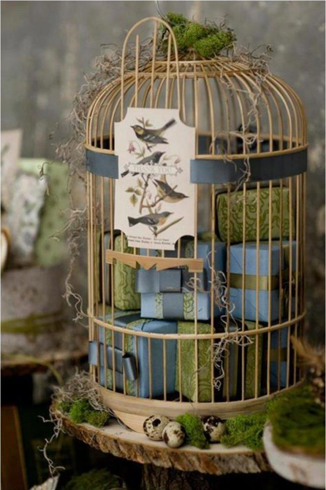 Chic Birdcage With Golden Glint Design Chris A Dorsey Photography