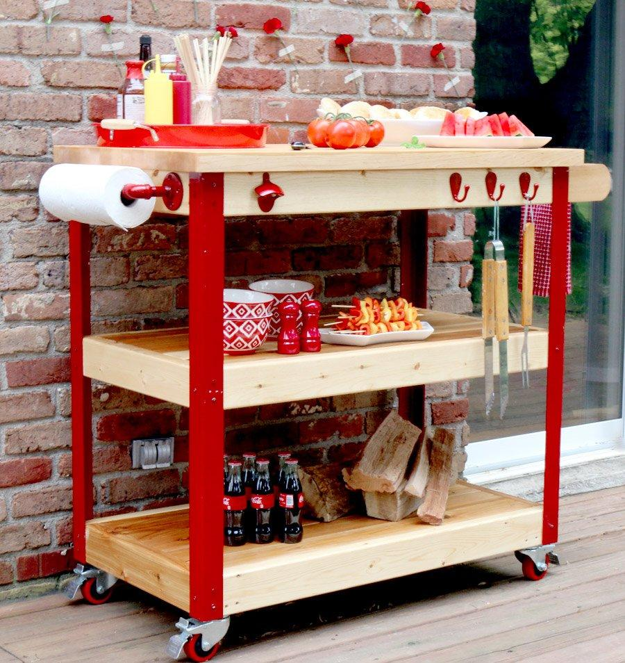 What Every Backyard Party Needs: 12 DIY Outdoor Serving ... on Diy Bbq Patio id=15952
