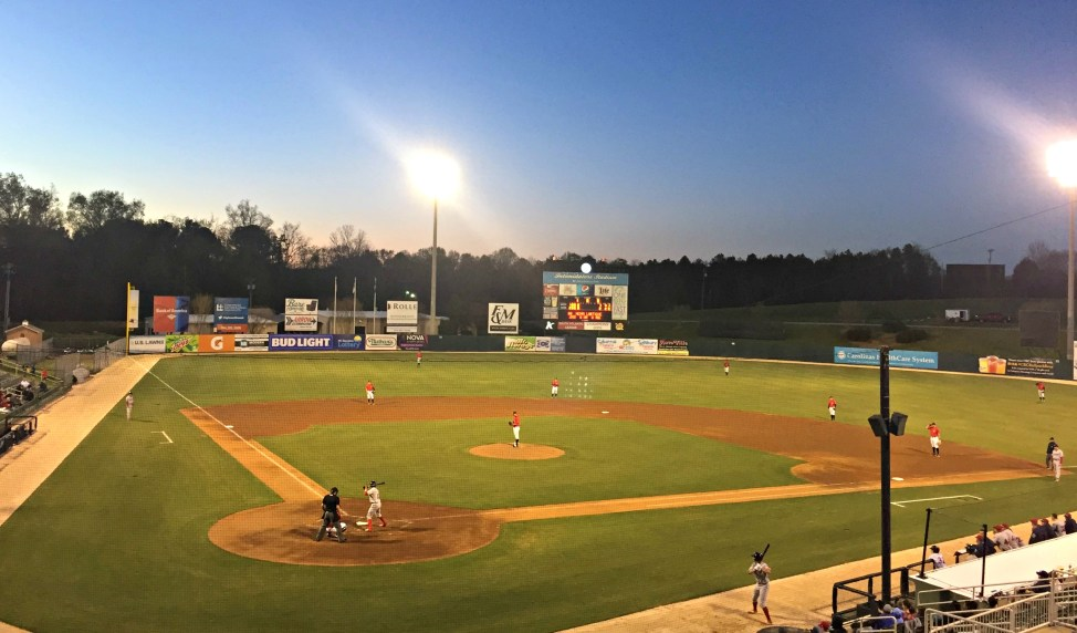 Sun Setting on the Field - baseball