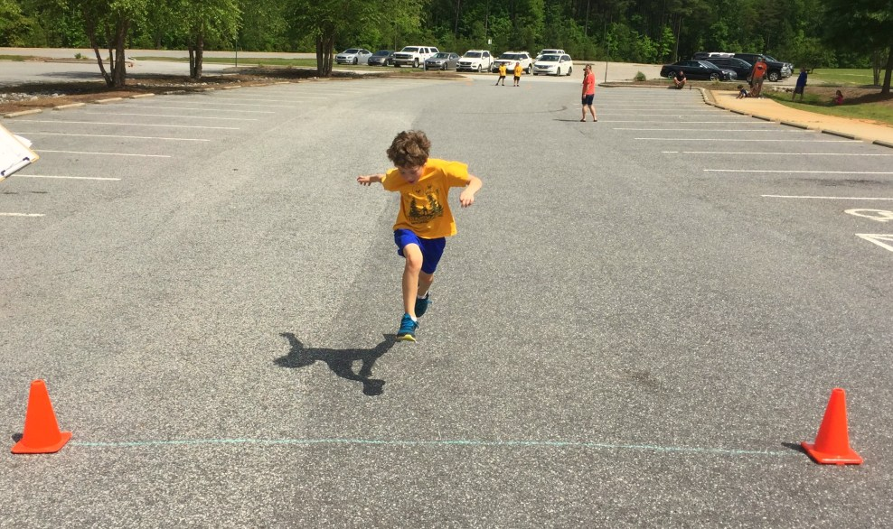 Cub Scout Sprinting