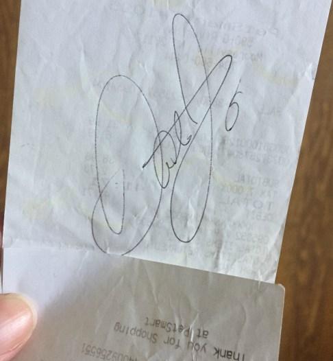 Dale Earnhardt Jr.'s autograph