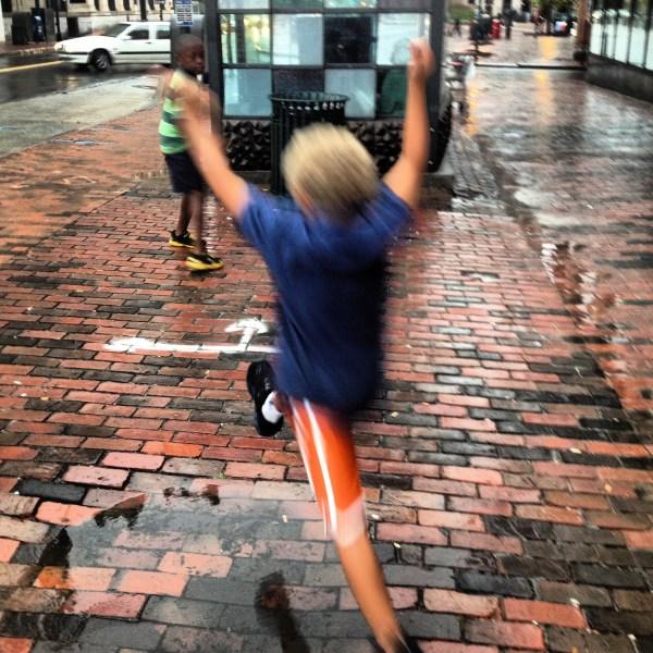 Rainy day leaps