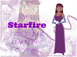 Starfire clothes poster