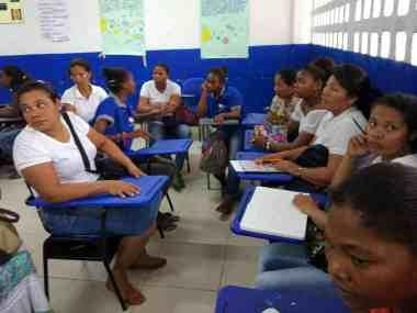 Mujeres desplazadas en Cartagena de Indias
