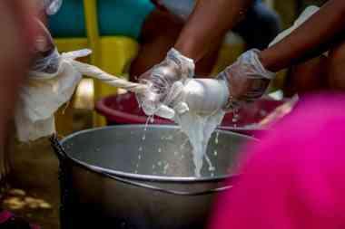 Obtención de la leche de coco