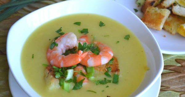 Картофельный суп-пюре с креветками рецепт с фото пошагово