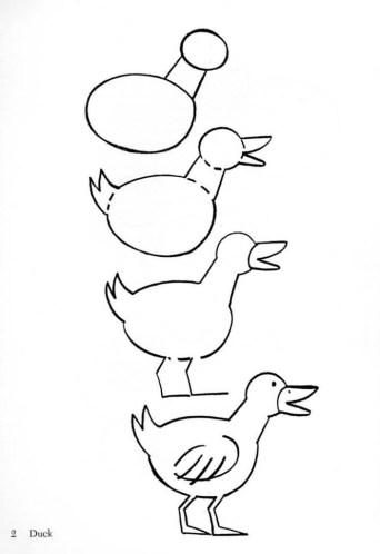 рисуем утку