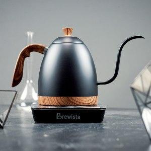 Стальной чайник c длинным тонким носиком для заваривания кофе