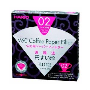 Осветлённые бумажные фильтры Hario V60 02 100 шт