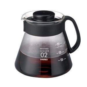 Hario чайник сервировочный с чёрной пластиковой ручкой, 600 мл