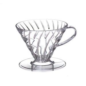 Пластиковая прозрачная воронка для приготовления кофе Hario V60