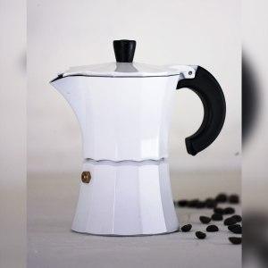 Мока Gnali and Zani Гейзерная кофеварка на 3 чашки. Белая