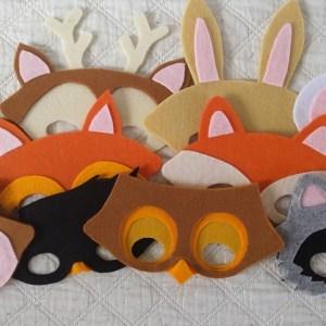 maskers van bosdieren