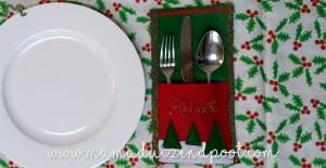 Bestekzakje voor het kerstdiner