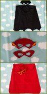 cape, bril en masker