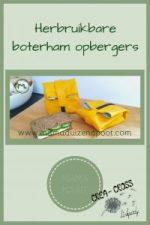 Pinterest - herbruikbare boterham opbergers