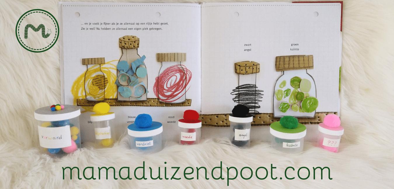 Kleurenmonster potjes om kleuren te sorteren