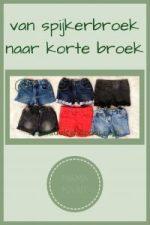 Pinterest - van spijkerbroek naar korte broek