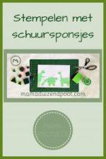 Pinterest - stempelen met schuursponsjes