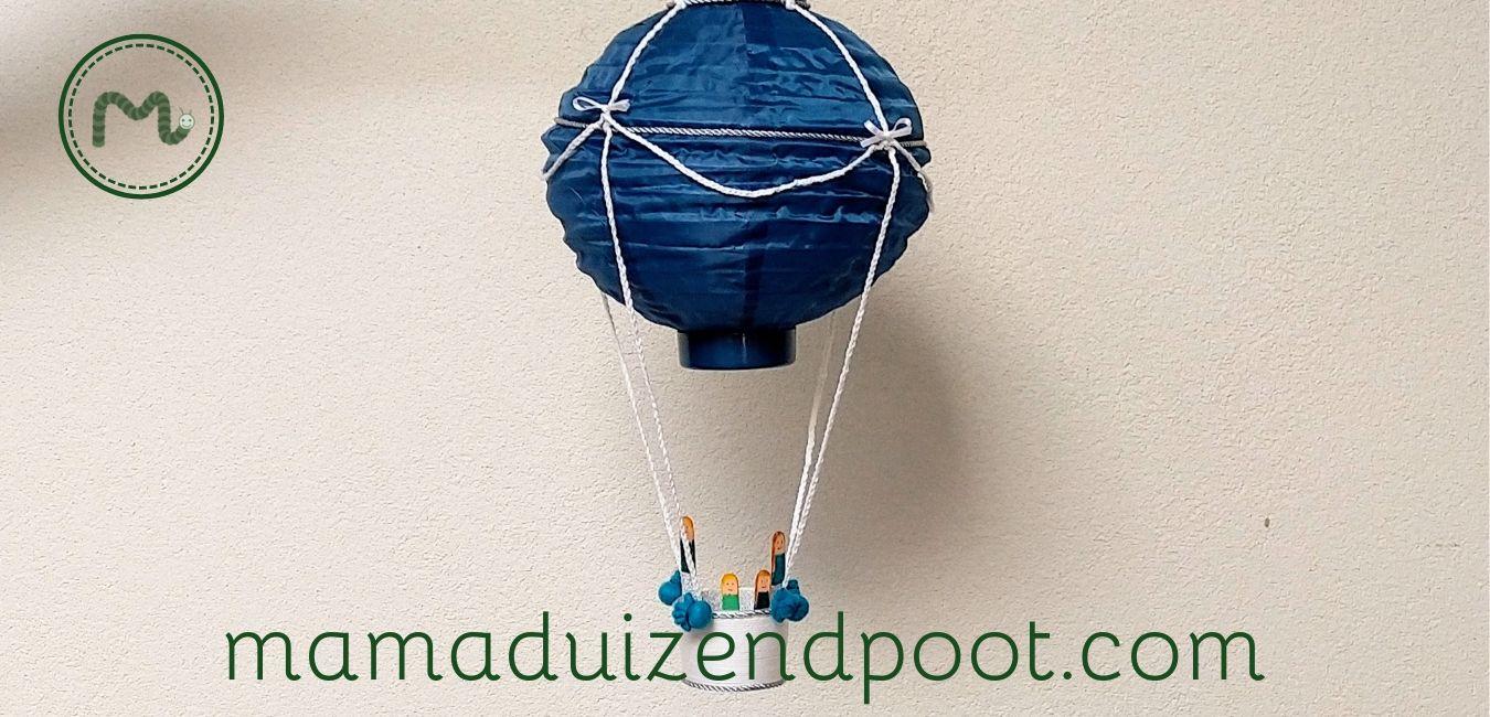 Een luchtballon van een lampion