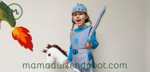Ridder kostuum voor de kleine drakenjager