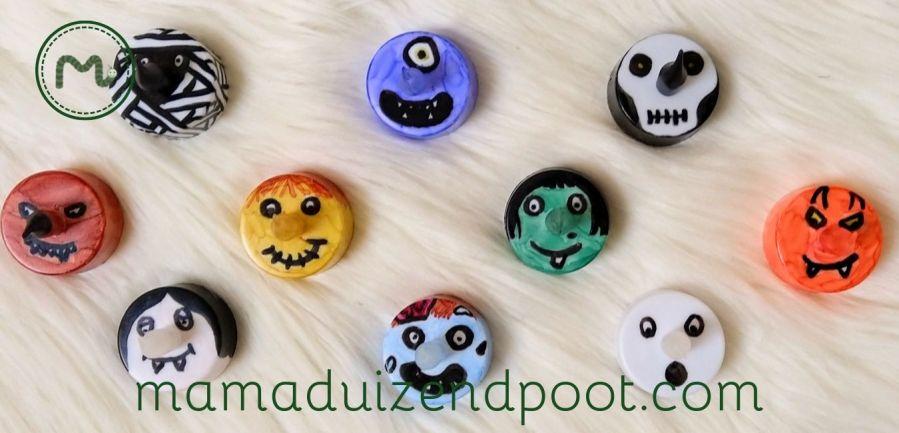 Halloween theelicht gezichtjes