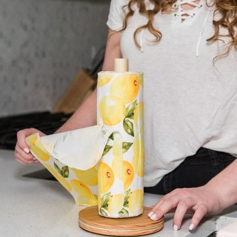 Non-paper towels are a great way to reduce waste in the kitchen.