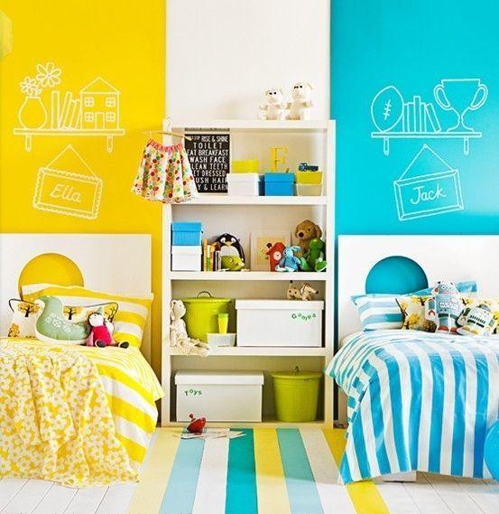 decoração de quarto de menino e menina