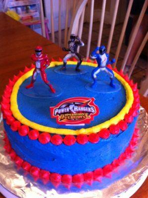 Power Rangers bolo de aniversário