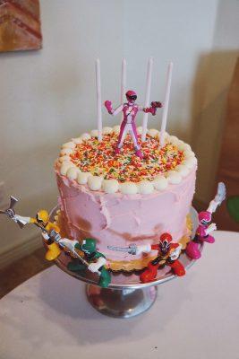 bolo de aniversário Power Rangers menina