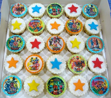 Doces dos Power Rangers
