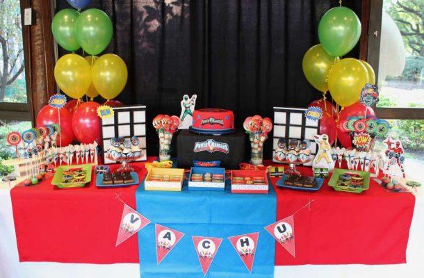 Power Rangers decoração de aniversário