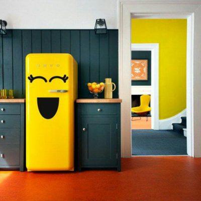 geladeira tom-amarelo