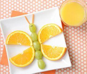 Borboleta de uvas e laranjas