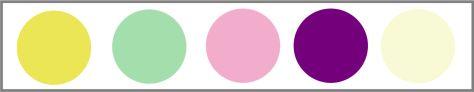 Paleta de cores para quarto de menina