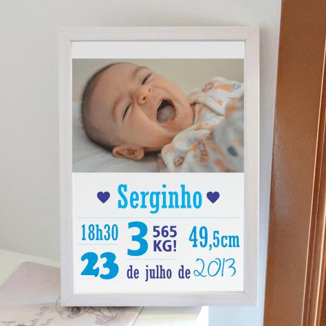 Meu sobrinho Serginho ficou fofo nessa quadro!