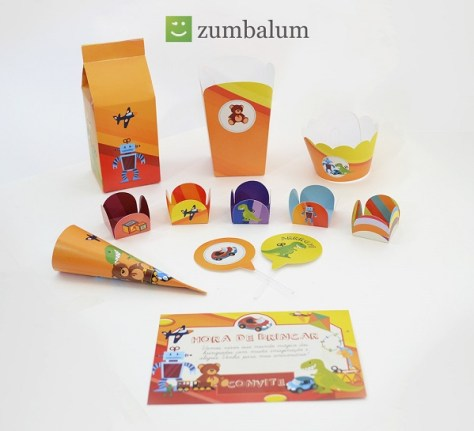 Kit festa infantil no tema brinquedos